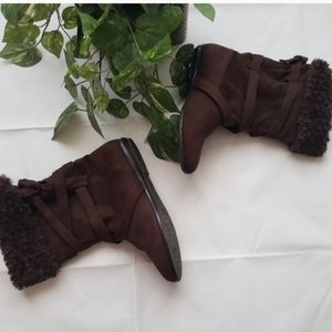 ALDO Soft Fabric Brown Boots Size 9